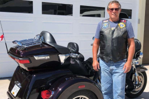 Wayne Reville, president of the B.C. chapter of Knights on Bikes